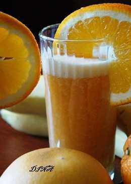Фреш из апельсина и грейпфрута с бананом