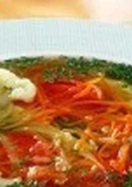 Постный овощной суп «Простой»