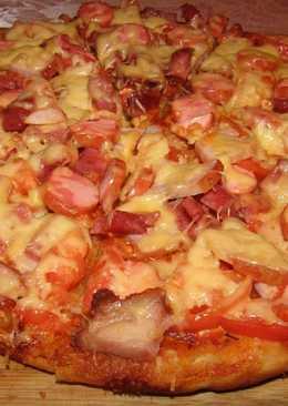Пицца на тонком дрожжевом тесте. Идеальное тесто для пиццы