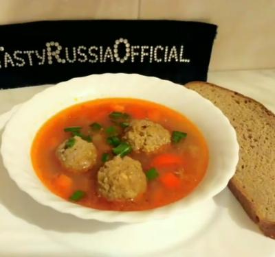 Овощной суп с тефтельками