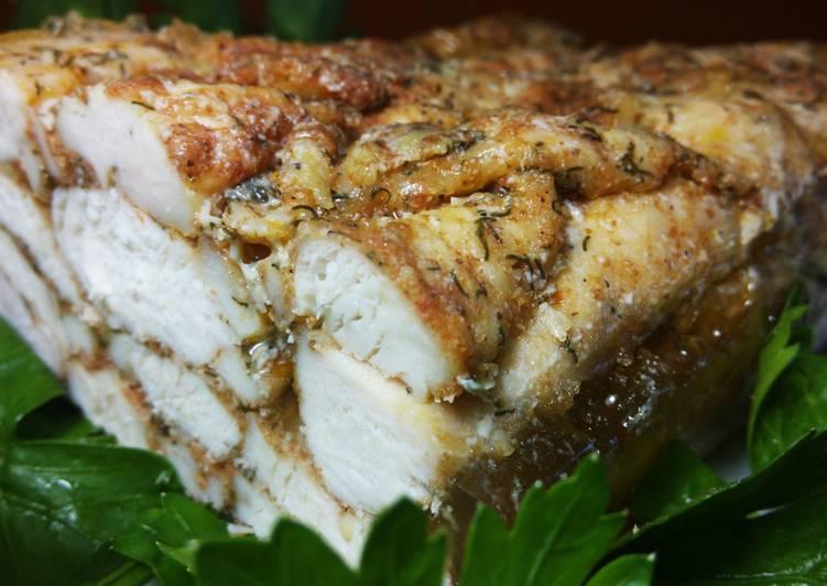 Мраморное мясо из куриного филе