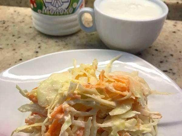Нежный капустный салат 🍴
