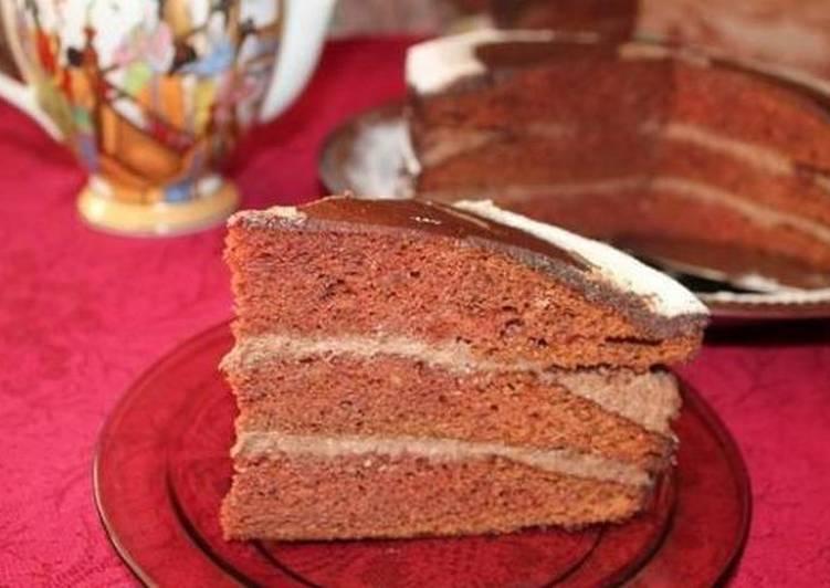"""Торт """"Пражский"""", домашний рецепт"""