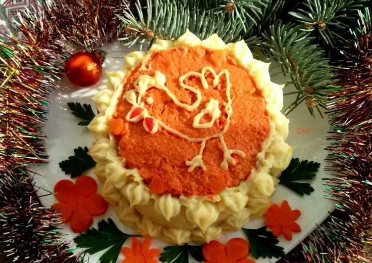 Новогодний торт «Кукареку»