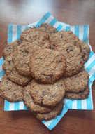 Домашнее овсяное печенье с грецкими орехами