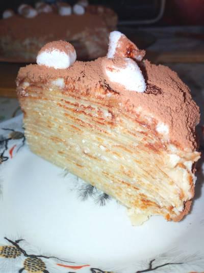 Блинный тортик #Летниедесерты