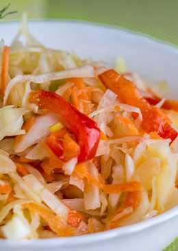 Витаминный салат из капусты - вкуснее рецепта маринованной капусты вы не найдете