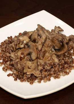 Бефстроганов из говядины с грибами в сметанном соусе в мультиварке