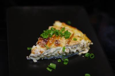 Пирог с курой, грибами и соусом бешамель 💛