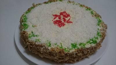 Бисквитный торт со сметанным кремом #кулинарныймарафон