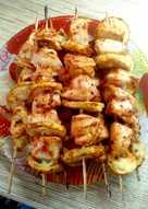 Куриный шашлычок с кабачком