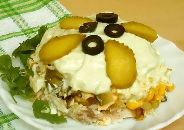 салат из горбуши с овощами на зиму