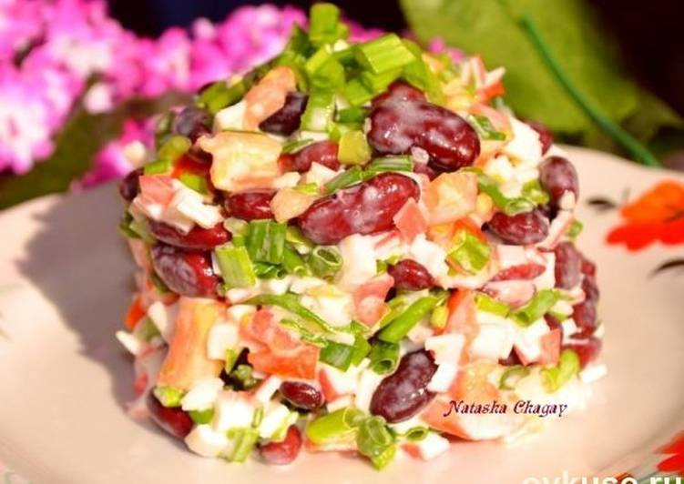 рецепт салат остренькие крабы
