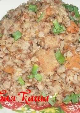 Гречневая каша с сушеными кабачками и мясом #кулинарный марафон