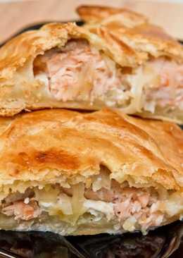 Рыбный пирог. Рыбный пирог из слоеного рубленного теста