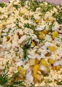 Салат с Белой Редькой На Новый Год. С Кукурузой, картошкой, морковкой, яблоком