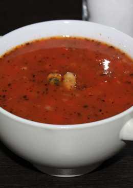 Томатный суп из морепродуктов. Необыкновенно вкусный