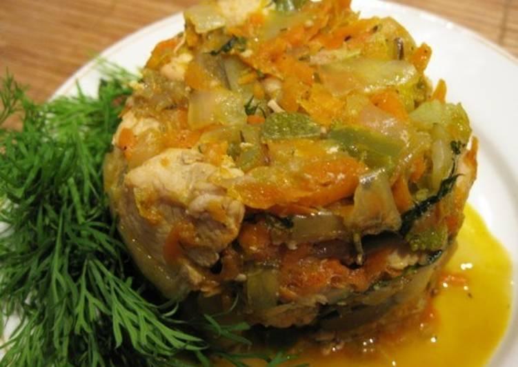 Курица с овощами по-новогоднему «Яблочная»