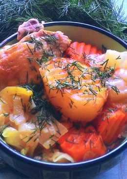 Овощное жаркое с курицей