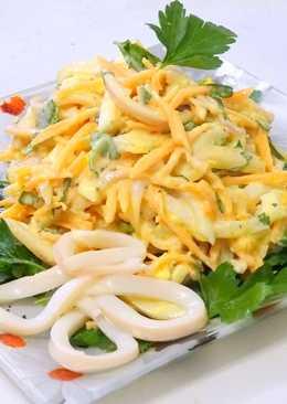 самый вкусный рецепт салата из кальмара