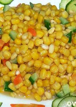 Кукуруза с кедровыми орешками по китайски