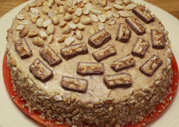 """Безумно вкусный домашний торт """"Сникерс"""""""