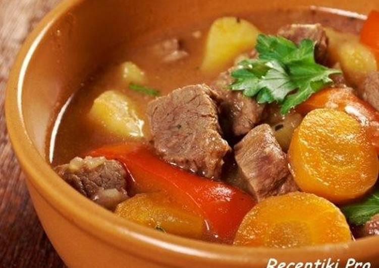 Овощное рагу с мясом-приготовь на обед