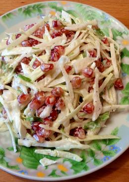 Салат из капусты и граната