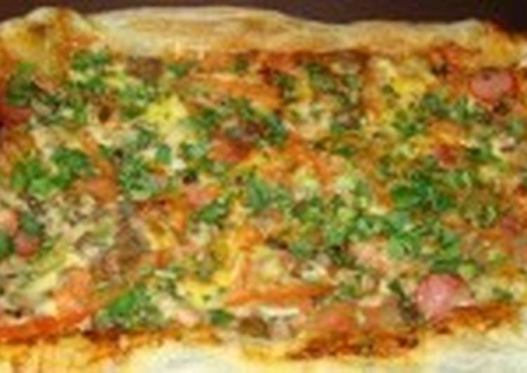 Пицца быстрая на слоеном тесте