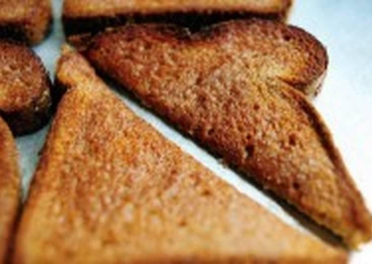 Тосты из белого хлеба с корицей