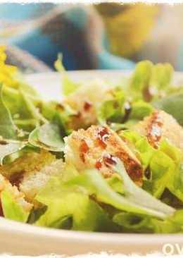 Французский весенний салат из одуванчиков
