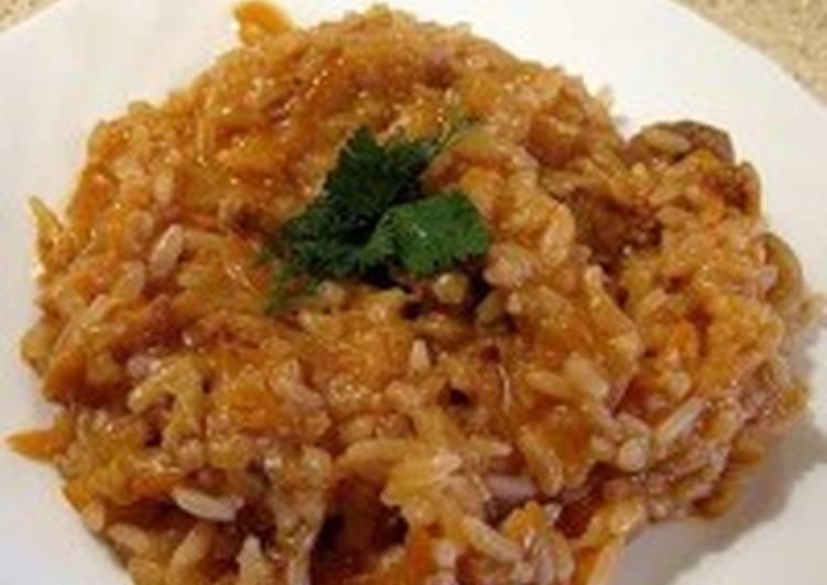 Постная капуста с рисом