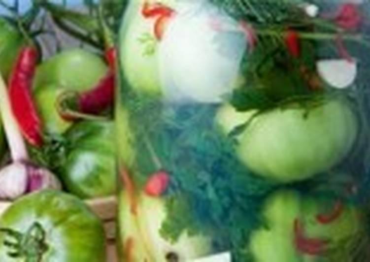 Помидоры зеленые соленые «На посошок»
