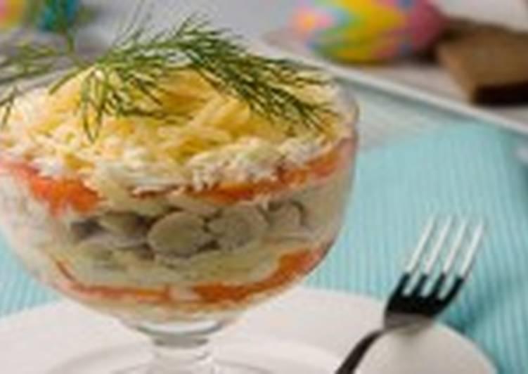 Салат из рыбных шариков