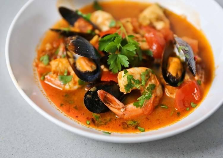 Суп из морепродуктов - рецепт