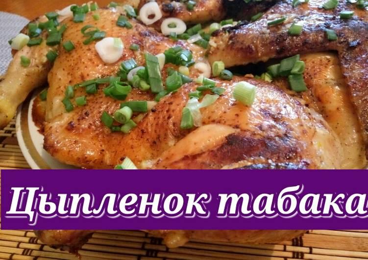 Цыпленок табака. Рецепт на сковороде