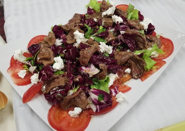 Салат с карпаччо из говядины recipe main photo