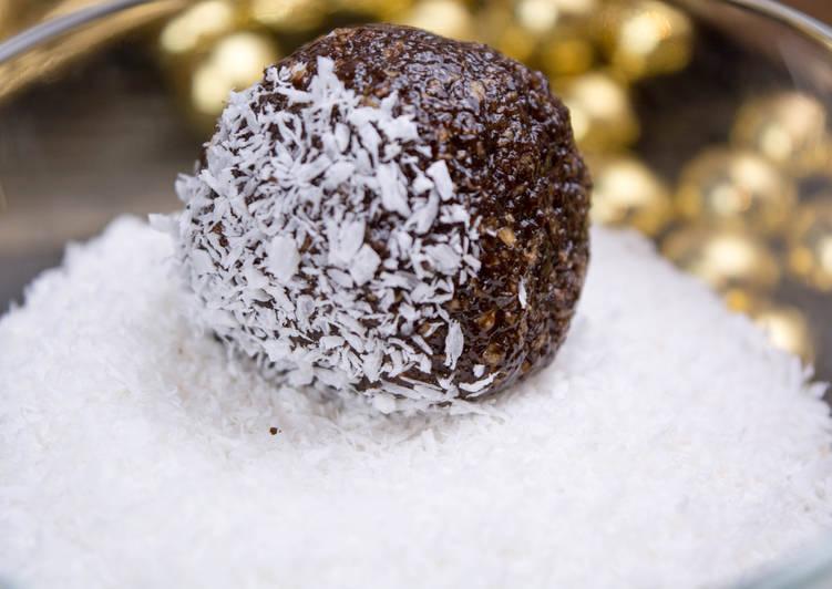 Кофейные шарики без выпечки