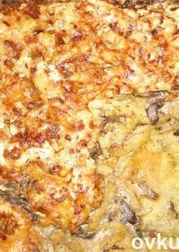 Запеканка с грибами из картошки
