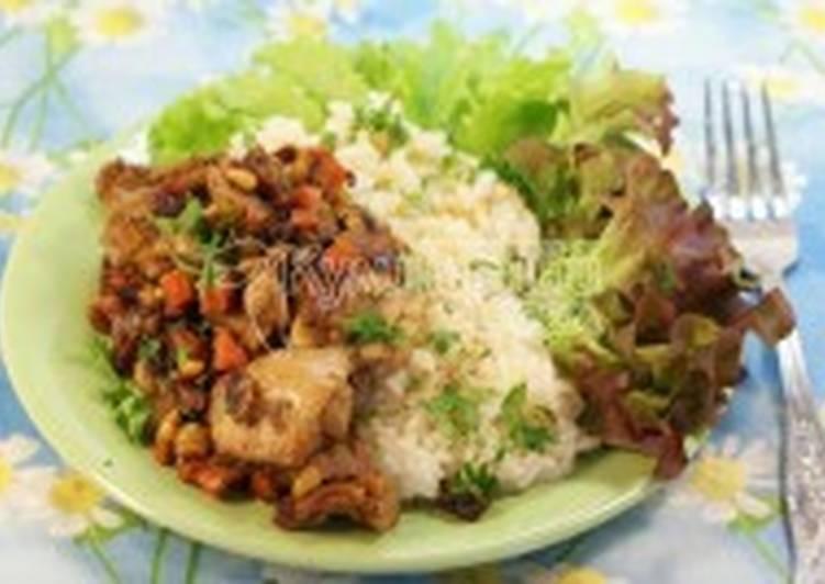 Курица со специями и кедровыми орешками