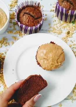 Кап-кейки с арахисовой пастой