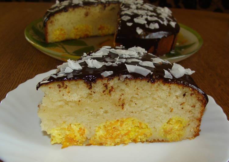 Пирог с творожно-морковными шариками