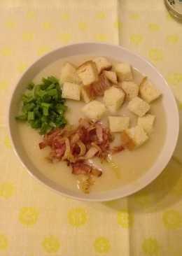 Суп пюре из фасоли с цветной капустой