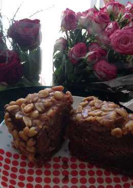 Кофейный торт с орехово-карамельной заливкой