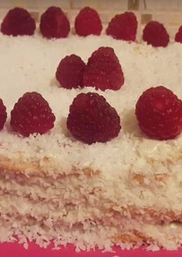 """Обалденный торт """"Нежность Ангела"""" с малиновой прослойкой (очень нежный, легкий и очень вкусный)"""
