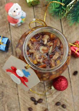 Варенье из хурмы с кофе и грецкими орехами