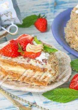 Карамельный «Киевский» торт