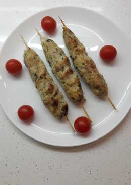 Люля-кебаб из курицы с курдючным салом