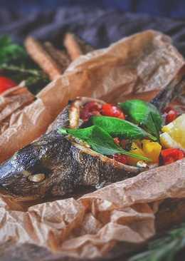 Дорада с овощами