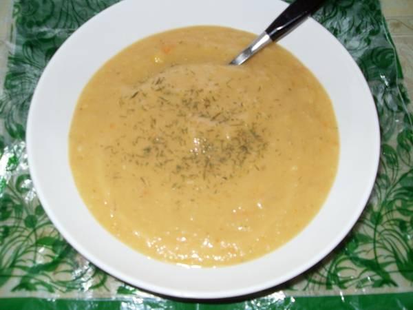 Суп-пюре гороховый. Постный стол